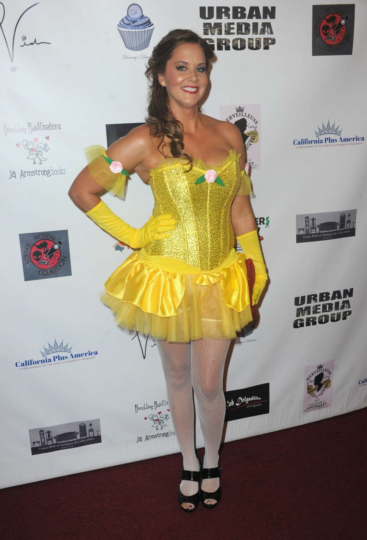 Actress Courtney Moore attends Halloween Hotness 4: Heating Up For The Cure held at American Legion Hall on October 15, 2017 in Los Angeles, California.
