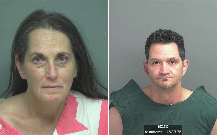 Theresa Bushnell was charged with possession of methamphetamine and Todd Bartek was charged with evading arrest after a police chase allegedly led to a crash in Porter on Sunday, Oct. 15, 2017. Photo: Montgomery County Jail