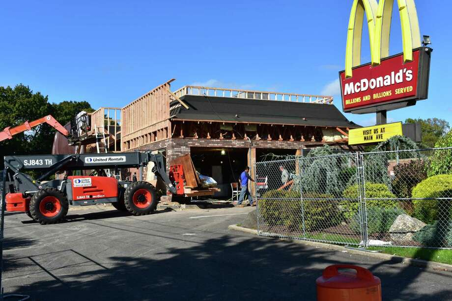 """In mid-October 2017, it is the turn of the McDonald's on Connecticut Avenue in Norwalk for an overhaul that the chain has been undertaking at locations throughout the state and nationally, even as it labels itself as """"quick service"""" in a bid to shed the traditional image of fast food. Coming changes include digital screens on which patrons can punch in orders for delivery to tables; refreshed dining areas; and ordering from mobile devices. Photo: Alexander Soule / Hearst Connecticut Media / Stamford Advocate"""