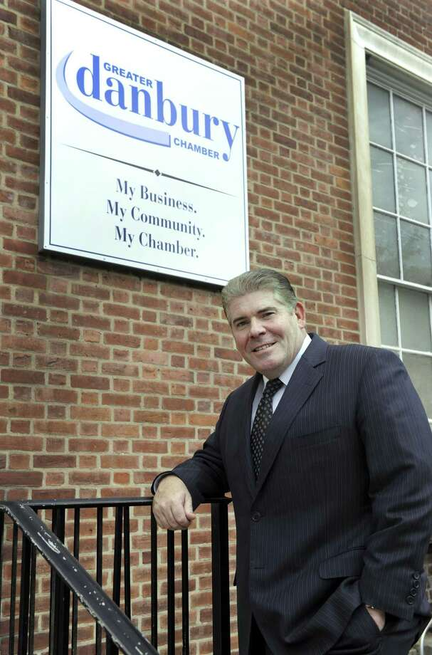 Stephen Bull, president of the Greater Danbury Chamber is photographed in front of his office Thursday, Oct. 1, 2015. Bull was let go as president on Sept. 30, 2017. Photo: Carol Kaliff / Hearst Connecticut Media / The News-Times