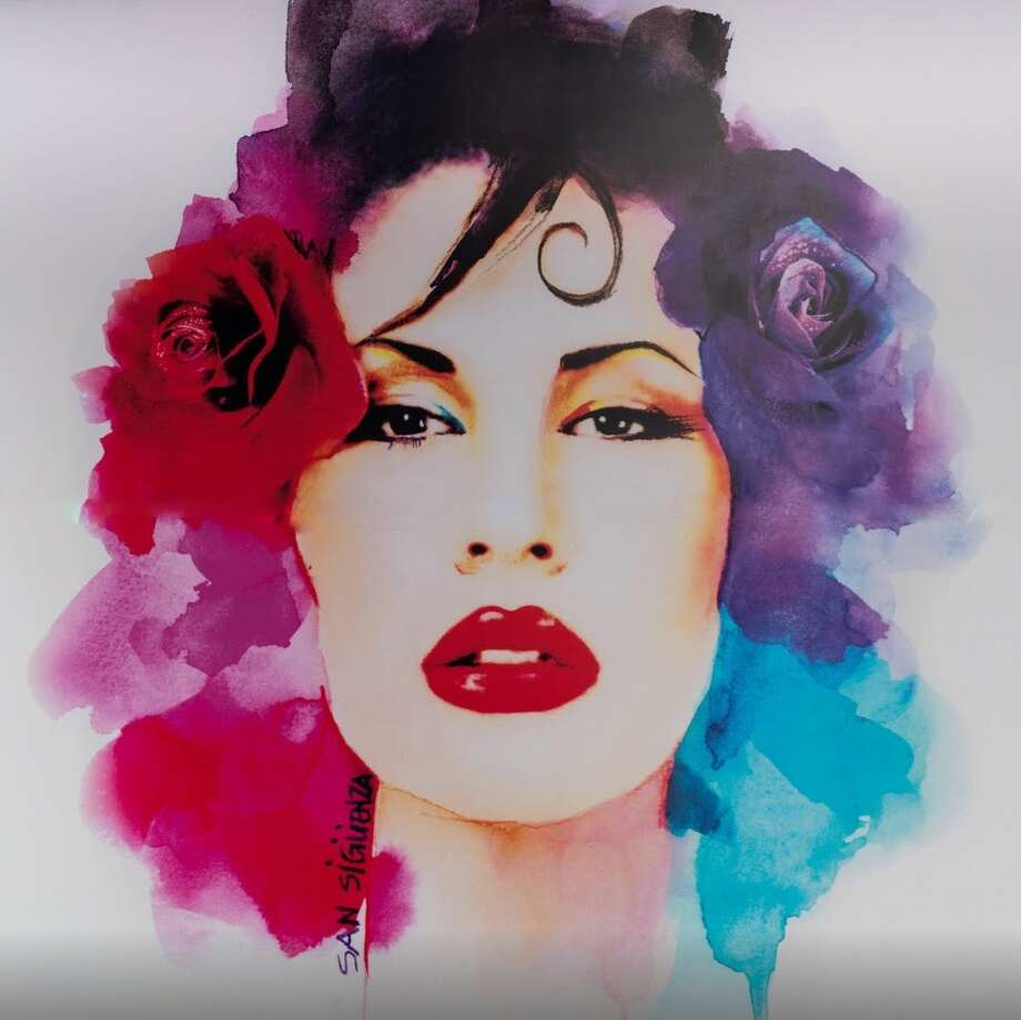 Fan Artwork (2015)By Santi Sigüenzawatercolor and acrylic on cotton canvas Photo: Courtesy Google Arts And Culture, The Selena Museum