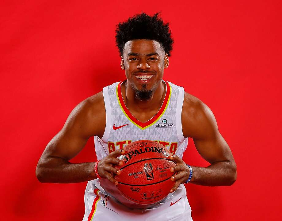 ATLANTA, GA - SEPTEMBER 25:  Quinn Cook #4 of the Atlanta Hawks poses during media day at the Four Seasons Hotel Atlanta on September 25, 2017 in Atlanta, Georgia.  NOTE TO USER: User expressly acknowledges and agrees that, by downloading and/or using this photograph, user is consenting to the terms and conditions of the Getty Images License Agreement.  (Photo by Kevin C. Cox/Getty Images) Photo: Kevin C. Cox, Getty Images