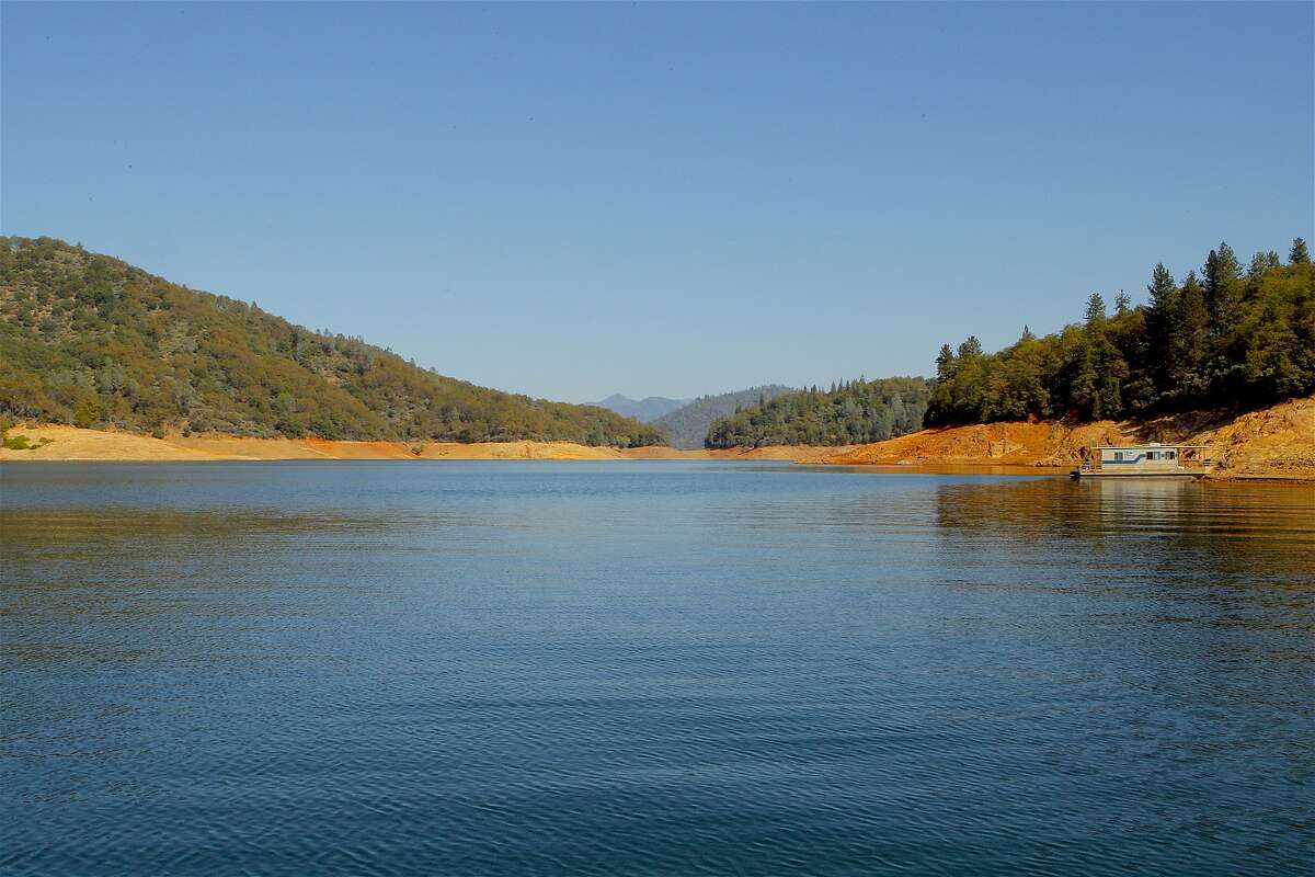 A secluded cove of Shasta Lake, with 365 miles of shoreline, the largest reservoir in California. California's State Water Resources Control Board adopted new regulations on March 6 that allow treated recycled water to be added to reservoirs used for drinking water.