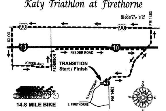 The 25th annual Katy Triathlon will be Oct. 29 around the Firethorne master-planned community. It includes a 14.8-mile bike race, a 3-mile run and a 500-meter swim.
