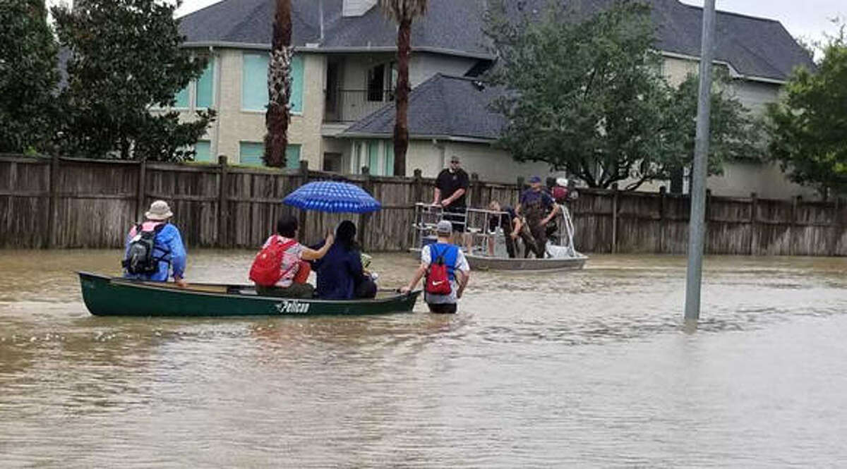 Boy Scout Troop 584 volunteered over 600 hours to assist in rescuing stranded residents, cleaning out flooded homes and assisting at local crisis centers after Hurricane Harvey.