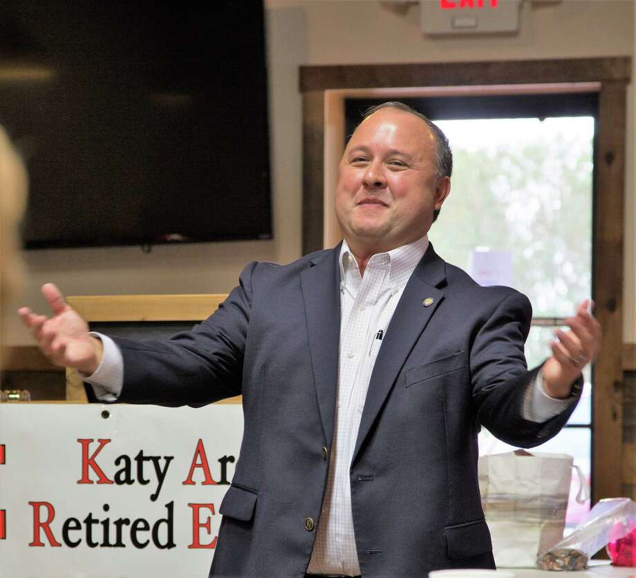 "On Oct. 4, Katy Area Retired Educators (KARE) held their first meeting, after Hurricane Harvey, at Midway Barbeque with Aaron Alejandro as their guest speaker. Alejandro is the executive director of the Texas FFA Foundation who shared with the retirees ""You may be Retired, but your Voice is Not."" Midway Barbeque has agreed to host KARE meetings until the Merrell Center is restored. KARE's next meeting will be held on Nov. 1 at Midway Barbeque. For more information about the Katy Area Retired Educators go to www.localunits.org/KARE. Photo: Courtesy Photo"