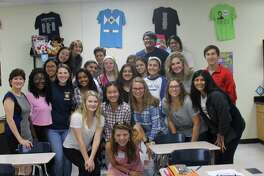 """Hope For Three Autism Advocates presents """"It's Cool to Care,"""" their signature awareness campaign, to Mrs. Sparwasser's PALs (Peer Assistance and Leadership) classes at Clements High School."""