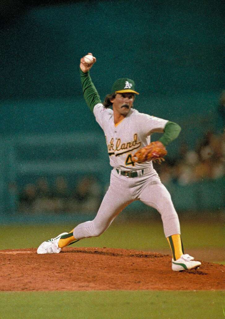 ** ADVANCE FOR WEEKEND EDITIONS, JULY 24-25 -- FILE -- ** Oakland Athletics Dennis Eckersley throws against the Los Angeles Dodgers in the ninth inning of the first game of the 1988 World Series at Dodger Stadium in Los Angeles, Calif., in this October 15, 1988 photo. (AP Photo/Bob Galbraith)