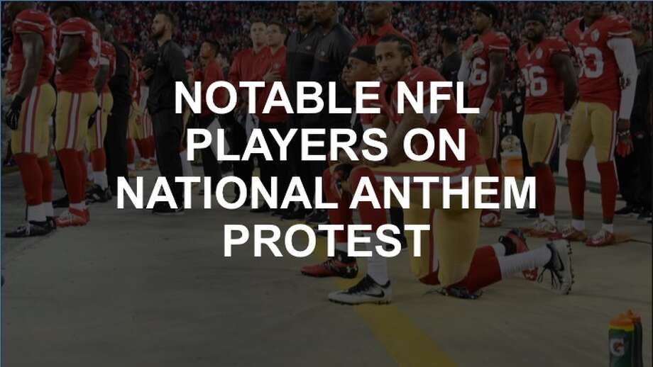 Scroll through the gallery ahead to see how NFL players have responded to the national anthem protests.