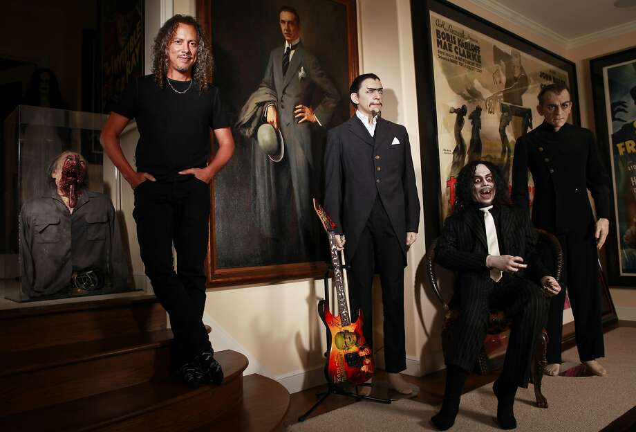 Metallica guitarist Kirk Hammett enjoys his passion for collecting horror-film memorabilia whenever he's not out on tour. Photo: Russell Yip, The Chronicle