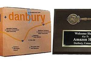 Danbury included a key to the city in its bid for Amazon's second world headquarters.