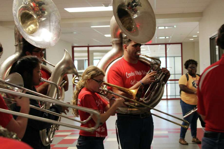 #10 Crosby ISDNet gain: 8Transfers in: 109Transfers out: 101Crosby High School band students play music up and down the hallways of Crosby ISD's schools during the Crosby Education Foundation Teacher Grant Giveaway on Tuesday, Oct. 17. Photo: Melanie Feuk