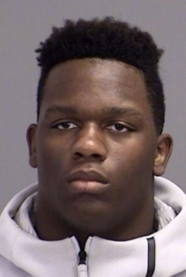 Texas A&M freshman defensive end Ondario Robinson was arrested by university police on Monday on a charge of theft of an item worth between $100-750, according to Brazos County jail records. Photo: Brazos County Justice Web