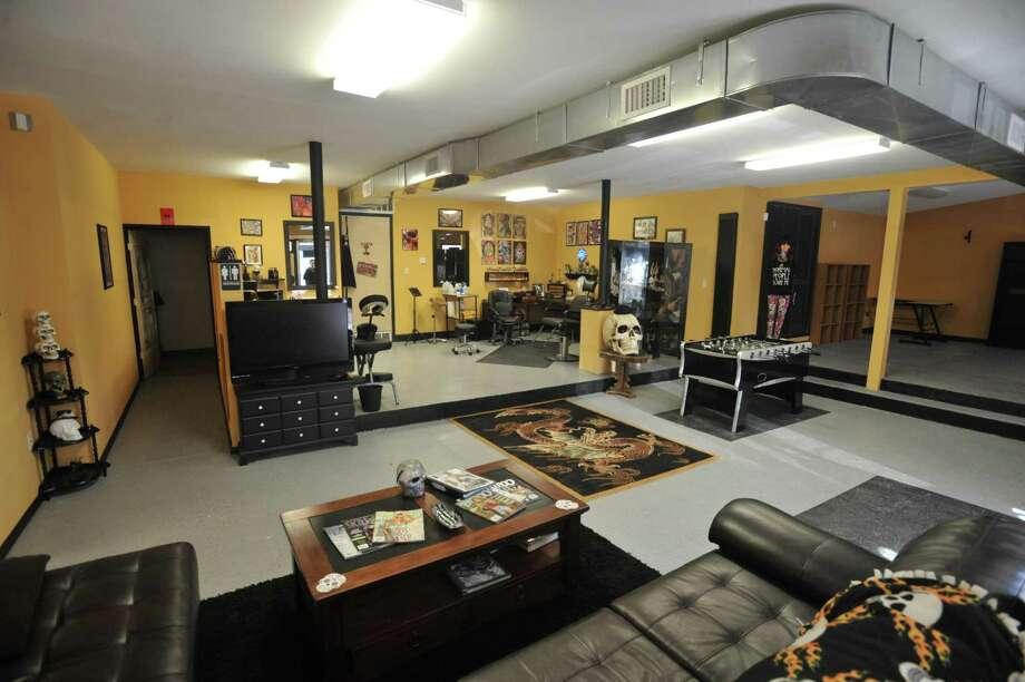 "Torrington resident Richard Sanders will soon open ""The Ink Spot,"" a new tattoo shop at 235 East Elm St. Photo: Ben Lambert / Hearst Connecticut Media"
