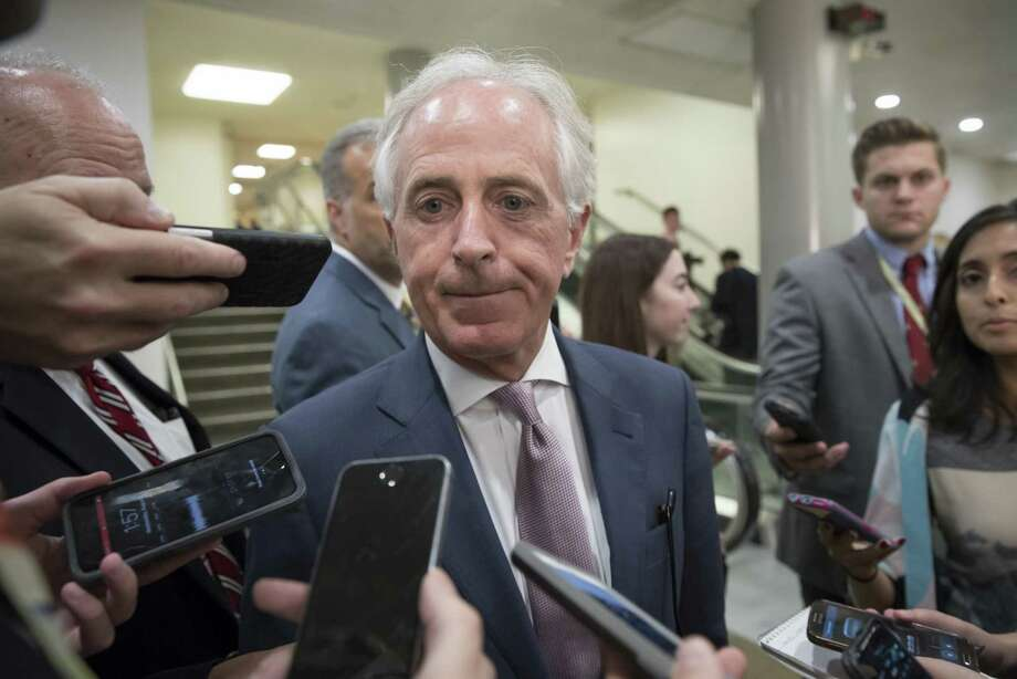 """President Trump lashed out at Sen. Bob Corker on Tennessee, calling him """"Liddle Bob Corker,"""" continuing a feud with the senator who called the White House an """"adult day care center."""" A reader lauds the senator for standing up to the president. Photo: J. Scott Applewhite /Associated Press / AP"""