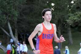 Dan Nichols of Danbury finished in fourth place during the boys high school cross country meet at Greenwich Point, Greenwich, Conn., Tuesday, Oct. 6, 2015.