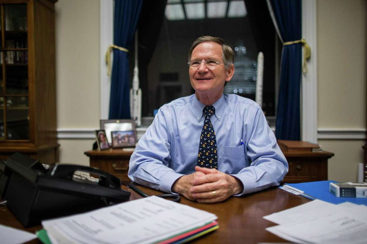 Rep. Lamar Smith (R-Texas), chair of the House Committee on Science, Space and Technology, at his office in the Rayburn House Office Building in Washington, Dec. 2, 2015. Smith and other Republicans on the committee have long attacked a 2015 study the National Oceanic and Atmospheric Administration published that likely negates data in an earlier 2013 scientific paper that seemed to show that global warming had slowed since the late 1990s.