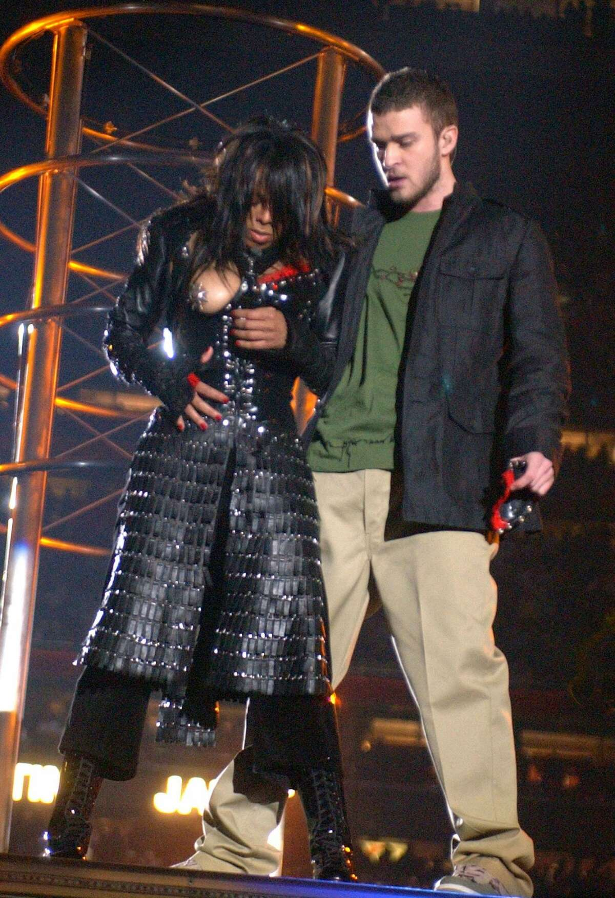Janet Jackson and Justin Timberlake at the 2004 Super Bowl The infamous half-time moment-which left Janet exposed-sparked a huge controversy, as many people were torn over whether or not the incident was accidental or intentional.