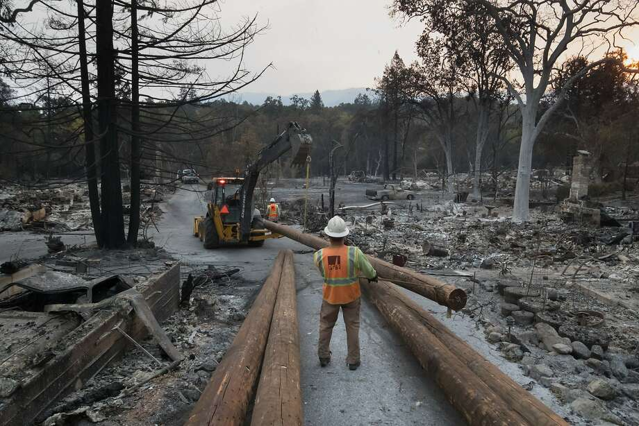 Rick Dunham walks where his garage and workshop once stood on Monday, Oct. 16, 2017 in Glen Ellen, CA. Photo: Paul Kuroda, Special To The Chronicle