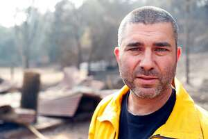 Oakland Fire Captain and volunteer Glen Ellen firefighter Chris Landry fought off the Nuns Fire to save his house and animals. Photographed in Glen Ellen, Calif., on Tuesday, October 17, 2017.