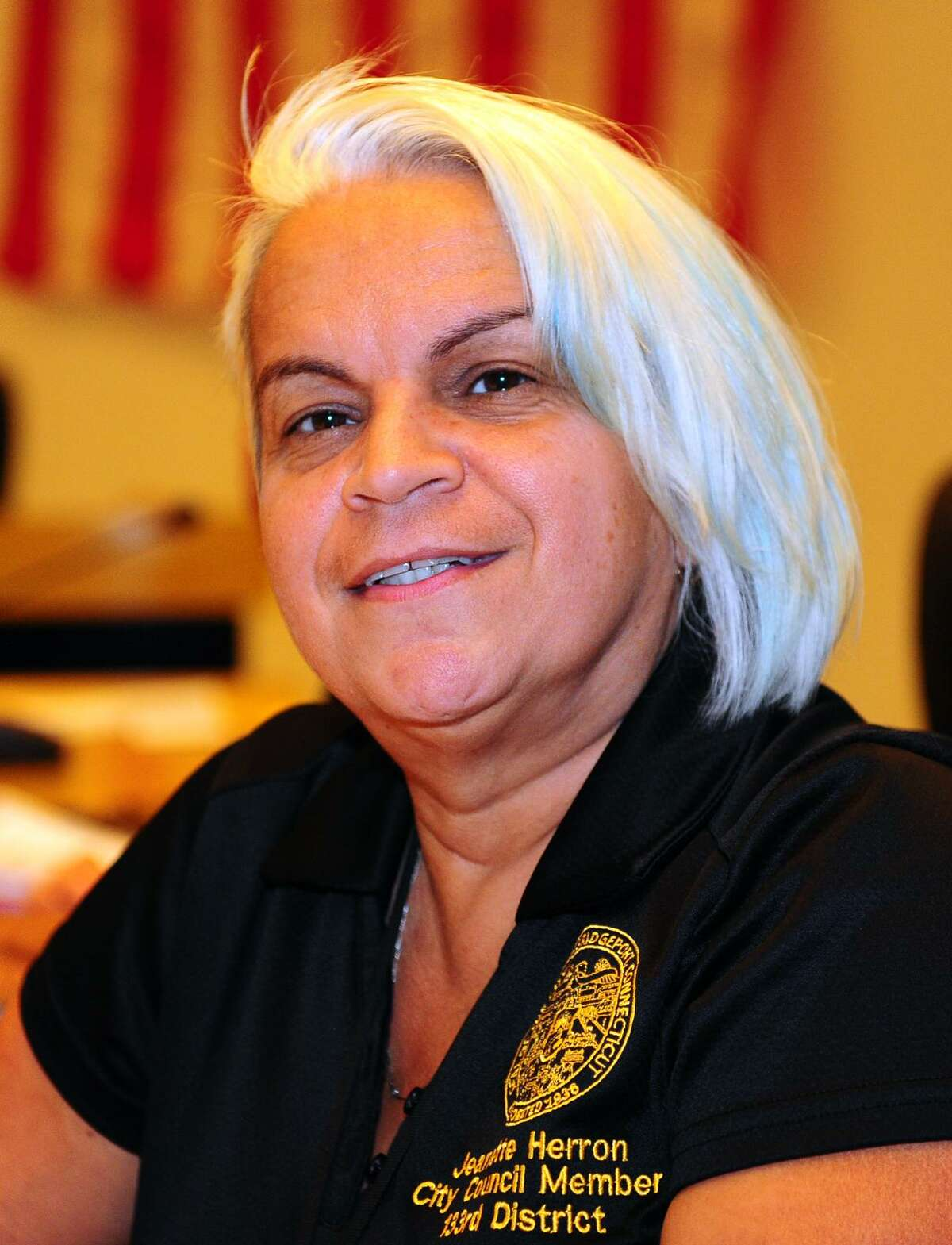Bridgeport City Council Member Jeanette Herron at City Hall in Bridgeport, Conn., on Tuesday Sept. 6, 2016.