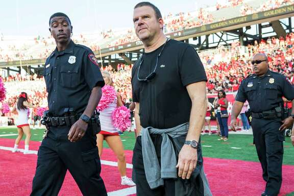Houston Rockets owner and UH Alum Tillman Fertitta walks the sidelines before an NCAA college football game at TDECU Stadium on Saturday, Oct. 7, 2017, in Houston, Texas. (Joe Buvid / For the Houston Chronicle)