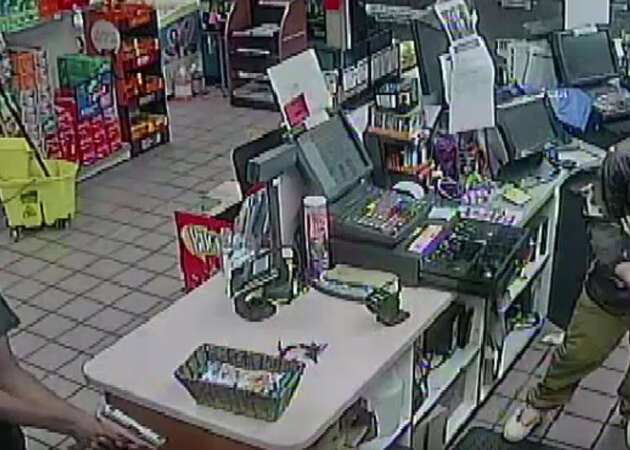 VIDEO: Three young men caught on surveillance armed as they rob Houston gas station