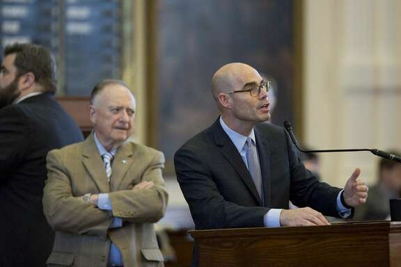 Rep. Dennis Bonnen R-Angleton speaks during SB1, the property tax debate on Saturday.