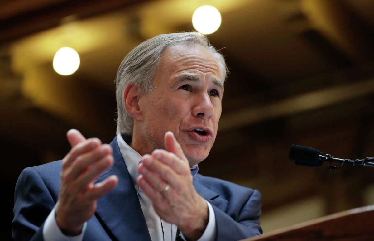 FILE - In this July 14, 2017 file photo, Texas Gov. Greg Abbott speaks at an event where he announced his bid for re-election in San Antonio. Texas has four of the biggest cities in the U.S. and all have united against a shared opponent: Abbott, who is staking his political power on whether he can pass a Â?