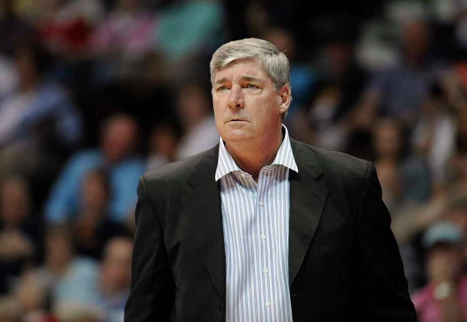 FILE - In this Aug. 29, 2015, file photo, New York Liberty coach Bill Laimbeer watches during the team's WNBA basketball game against the Connecticut Sun in Uncasville, Conn. Laimbeer will be the new coach and general manager of the San Antonio Stars when the team is sold and relocated, according to a person with knowledge of the deal. The person spoke to The Associated Press on condition of anonymity Friday night because there's no official announcement of the hiring. (AP Photo/Jessica Hill, File) ORG XMIT: NY315 Photo: Jessica Hill / AP2015
