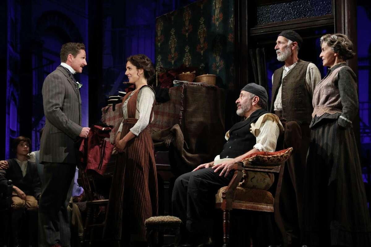 "Goodspeed Musicals presents ""Rags,"" running through Dec. 10. Above are cast members David Harris, Samantha Massell, Adam Heller, Mitch Greenberg and Emily Zacharias."