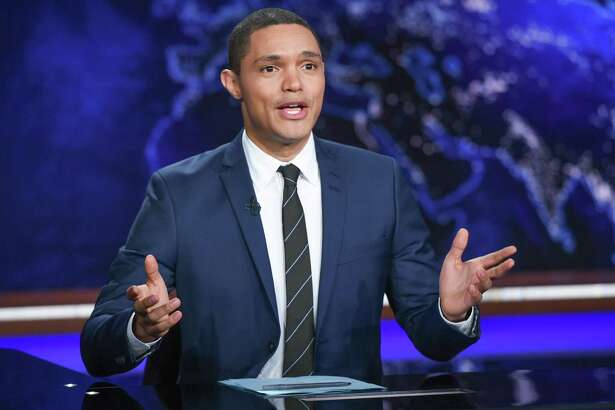 "Trevor Noah appears during a taping of Comedy Central's ""The Daily Show with Trevor Noah"" in New York. Charter Communications and Viacom, which owns Comedy Central, announced Tuesday, Oct. 17, 2017, they had agreed in principle on a new contract."
