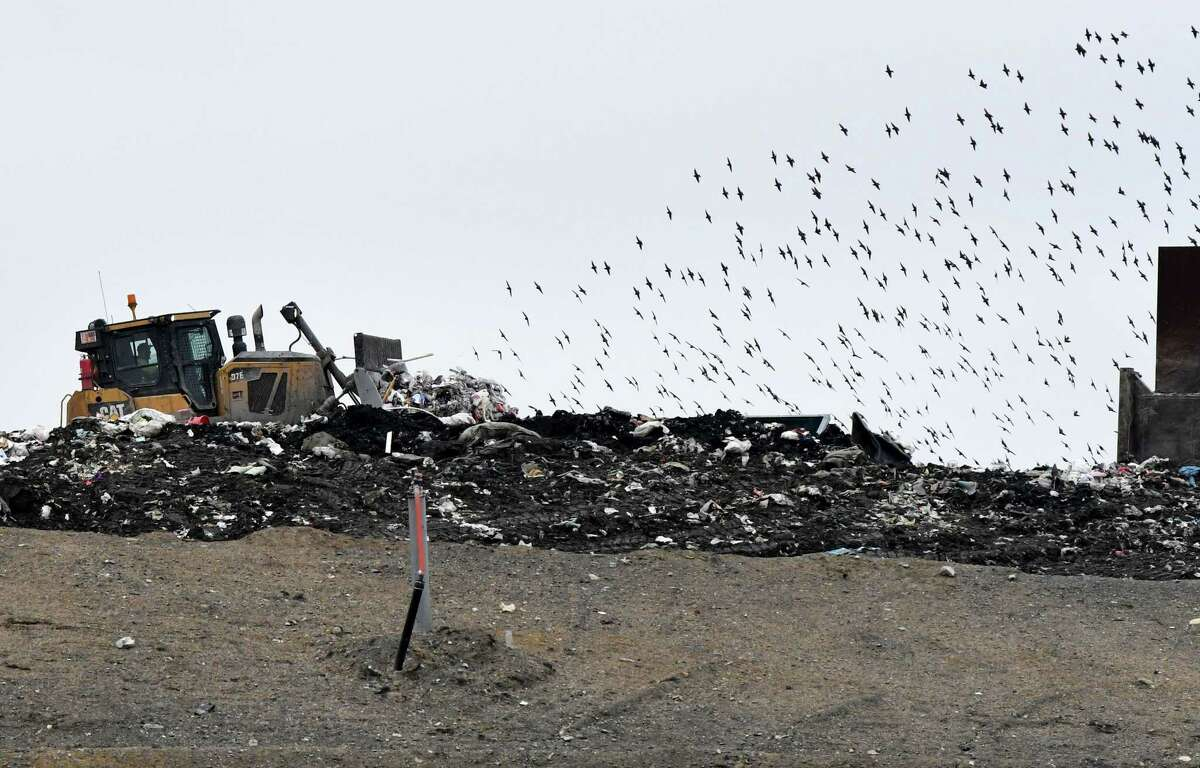 Garbage is dispersed at the Colonie Landfill on Friday, Jan. 20, 2017, in Colonie, N.Y. (Will Waldron/Times Union)