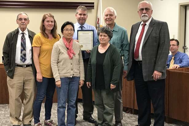 Members of the Baha'i community in Edwardsville were present at Tuesday's City Council meeting as Edwardsville Mayor Hal Patton awarded a proclamation, commemorating the 200th anniversary of the Baha'i faith's founder.
