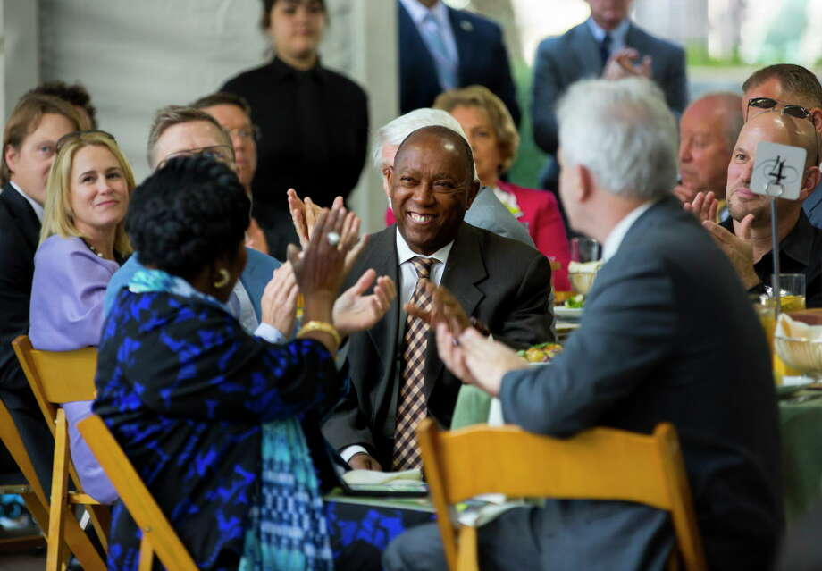Mayor Sylvester Turner during the Houston Parks Board Annual Luncheon on Tuesday, October 17, 2017, in downtown Houston. Photo: Annie Mulligan / @ 2017 Annie Mulligan