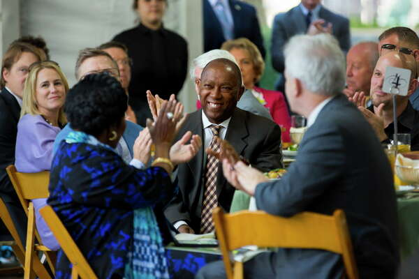 Mayor Sylvester Turner during the Houston Parks Board Annual Luncheon on Tuesday, October 17, 2017, in downtown Houston.