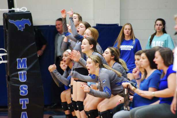 Friendswood celebrates a point against Clear Lake Tuesday, Oct. 17 at Friendswood High School.