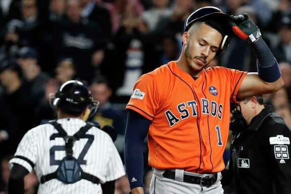 The middle of the eighth was no fun for shortstop Carlos Correa after he struck out to end that half-inning, but the situation would get much worse for the Astros at the end of the eighth with their lead having vanished.