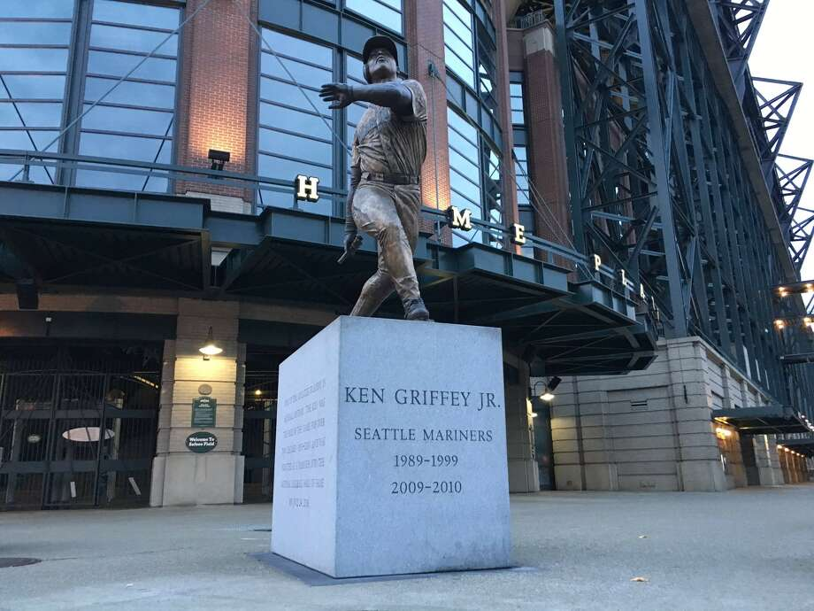 The Seattle Mariners confirmed someone broke off the bat from Ken Griffey Jr.'s statue outside Safeco Field on Tuesday. Photo: KOMO News