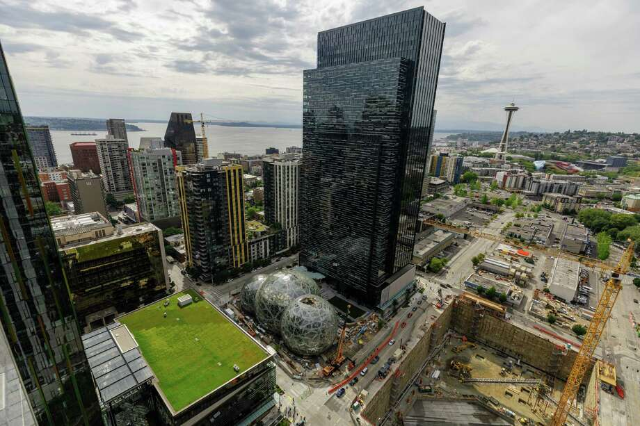 A view of Amazon's Seattle headquarters.