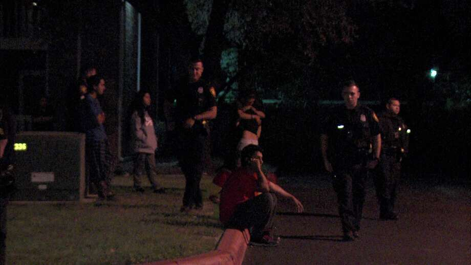 Police said the victim, who has not been identified, was at a party around 3:15 a.m. in the 8200 block of South Flores Street when he and the other attendees thought they saw the suspects breaking into vehicles outside. Photo: Ken Branca