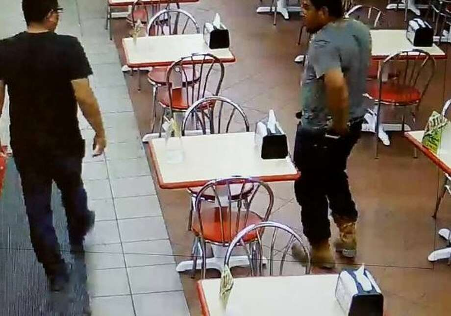 Police are asking for the public's help in identifying two men in connection with a missing smartphone case. Photo: Laredo Police Department