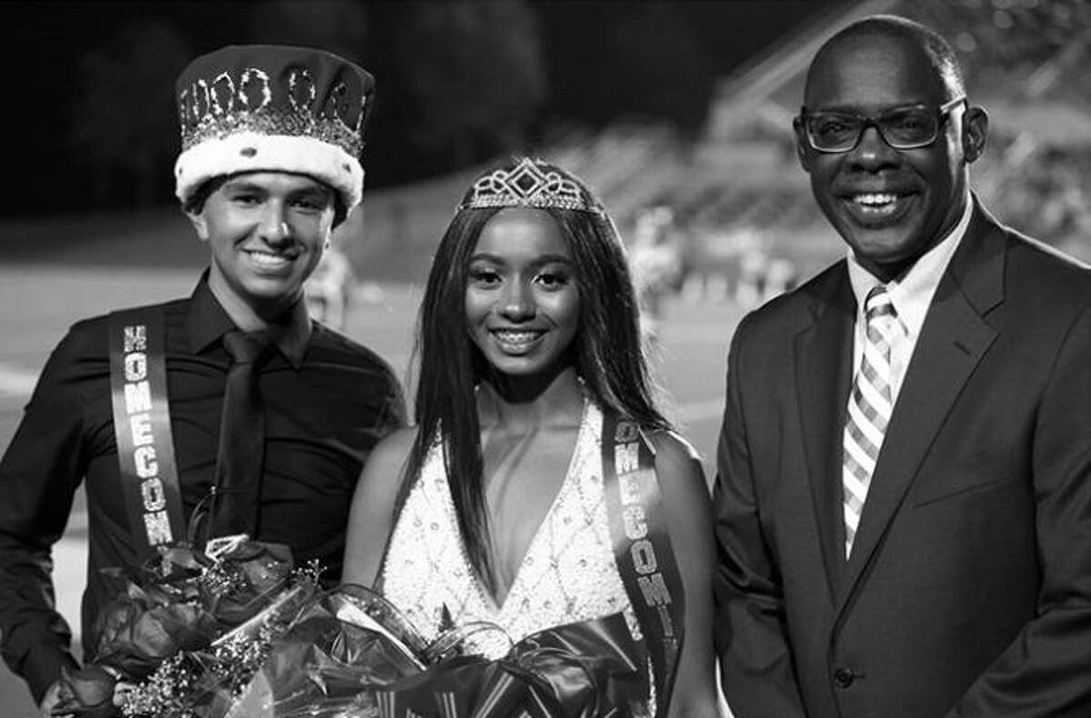 A photo of the 2017 North Shore Senior High School's homecoming king and queen was Photoshopped due to her hair being died bright purple, which is against school dress code. After getting criticized, the photo was then changed to black and white.