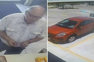 Detectives released a surveillance video image of the man and the vehicle he was allegedly driving for purposes of identification.