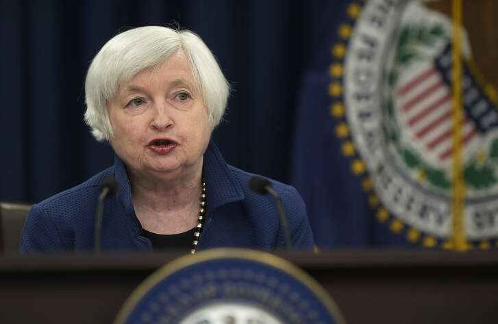 FILE - In this Wednesday, March 15, 2017, file photo, Federal Reserve Chair Janet Yellen speaks during a news conference in Washington. President Donald Trump said Tuesday, Oct. 17, 2017, that he is likely to make his selection for the next Federal Reserve chairman from five candidates, a group that includes current Chair Janet Yellen. (AP Photo/Susan Walsh, File)