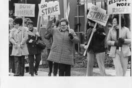 Contract negotiations reach impasse Feb. 6, 1972; Dow three-year contract offer totaled $1.34 per hour in wage and benefit increase. 170 members of Local 14055, United Steelworkers of America, begin strike Feb. 7, 1972. Bay City plants were operated by salaried employees. First striking employees return to work September 1972. Nearly 50 percent of striking employees return to work in March/April 1973. Petition signed by 70 percent of employees informing Dow that employees no longer want Local 14055, United Steelworkers, as their representative on April 13, 1973. Company honors petition and notifies United Steelworkers of withdrawal of recognition on April 16, 1973. Employees changed to all-salaries status. Dow offer extended to remaining strikers providing opportunity for them to reclaim their job or similar job on salary basis. Offer to striking employees expires April 25, 1973; three men responded to offer. (Information from The Dow Chemical Co. 1973)