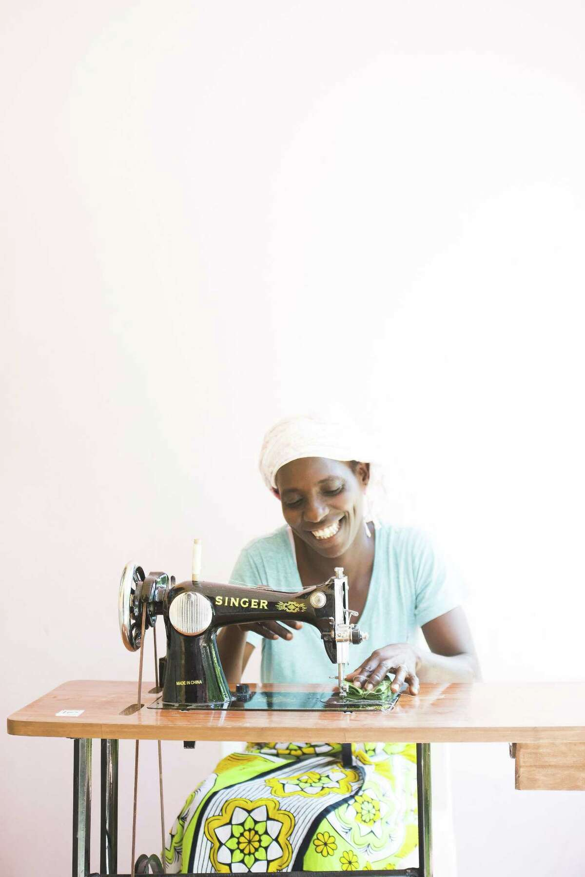 Linah Kopo is part of the seamstress team with the Imani Collective.
