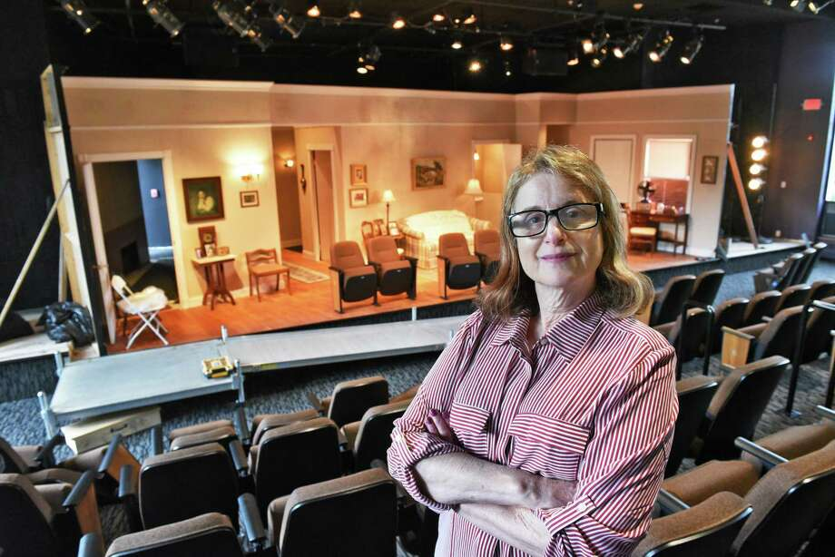 Owner and artistic director Carol Max in Curtain Call Theatre's new home in the chapel of the former Little Sisters of the Poor Residence, now the Ashfield Apartments, Thursday Sept. 7, 2017 in Colonie, NY.  (John Carl D'Annibale / Times Union) Photo: John Carl D'Annibale / 20041388A