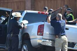Bexar County deputies arrested a 39-year-old man on the Far West Side after he led them on a chase in a stolen vehicle containing stolen law enforcement equipment.