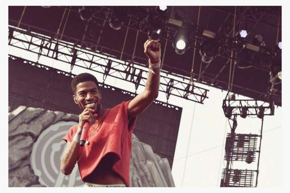 Rapper Kid Cudi performs onstage during day 2 of the 2014 Coachella Valley Music & Arts Festival at the Empire Polo Club on April 12, 2014 in Indio, California.   (EDITORS NOTE: Image was processed using Digital Filters)